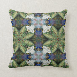 Kaleidoscope Design No 741 Throw Pillow