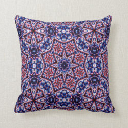 Kaleidoscope Design No 808 Throw Pillow