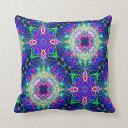 Kaleidoscope Design No 824 Throw Pillow