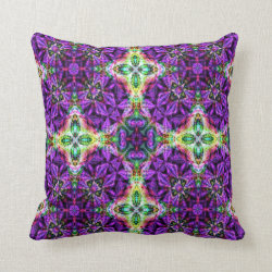 Kaleidoscope Design No 838 Throw Pillow