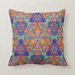 Kaleidoscope Design No 840 Throw Pillow