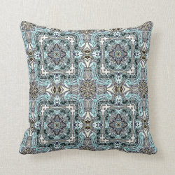 Kaleidoscope Design No 843 Throw Pillow
