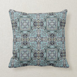 Kaleidoscope Design No 844 Throw Pillow