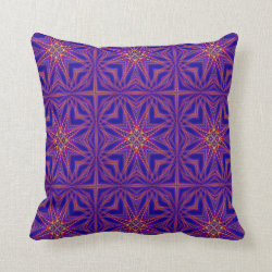 Kaleidoscope Design No 862 Throw Pillow