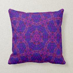 Kaleidoscope Design No 908 Throw Pillow