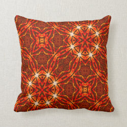 Kaleidoscope Design No 914 Throw Pillow