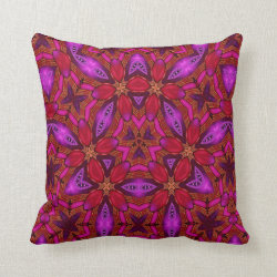 Kaleidoscope Design No 956 Throw Pillow