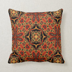 Kaleidoscope Design No 975 Throw Pillow