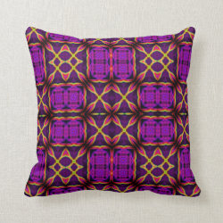 Kaleidoscope Design No 980 Throw Pillow