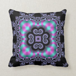 Kaleidoscope Design No BJ01 Throw Pillow