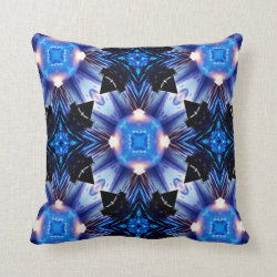 Kaleidoscope Design No BW06 Throw Pillow