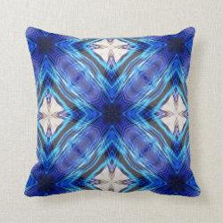 Kaleidoscope Design No BW08 Throw Pillow