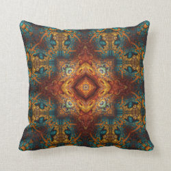 Kaleidoscope Design No CG2 Throw Pillow