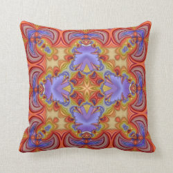 Kaleidoscope Design No CT203 Throw Pillow