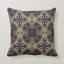 Kaleidoscope Design No  K042 Throw Pillow