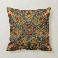 Kaleidoscope Design No  K1272 Throw Pillow