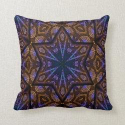 Kaleidoscope Design No  K1281 Throw Pillow
