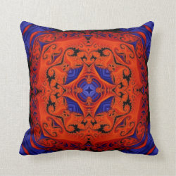 Kaleidoscope Design No.KAL112 Throw Pillow