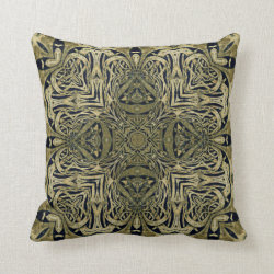 Kaleidoscope Design No.MG5 Throw Pillow