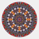 Kaleidoscope Design No.RB1 Classic Round Sticker