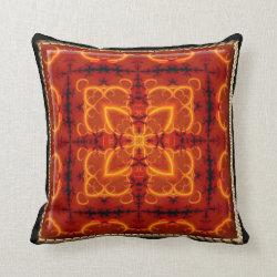 Kaleidoscope Design No. RD1 Throw Pillow