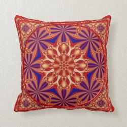 Kaleidoscope Design No RF03 Throw Pillow