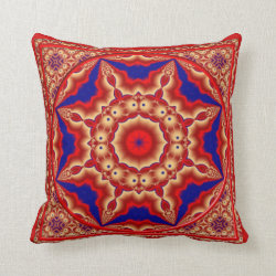 Kaleidoscope Design No RF05 Throw Pillow