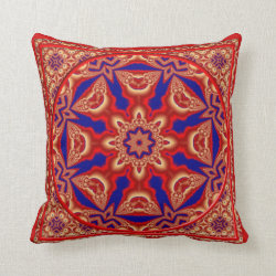 Kaleidoscope Design No RF06 Throw Pillow