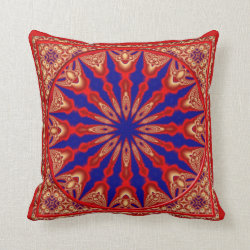 Kaleidoscope Design No RF07 Throw Pillow