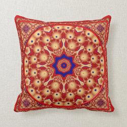 Kaleidoscope Design No RF08 Throw Pillow