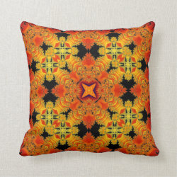 Kaleidoscope Design No.RY2 Throw Pillow