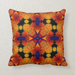 Kaleidoscope Design No.RY3 Throw Pillow