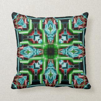 Kaleidoscope Design No.Teal 1S Throw Pillow