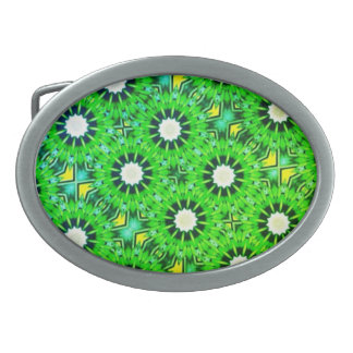 Kaleidoscope Design Oval Belt Buckle