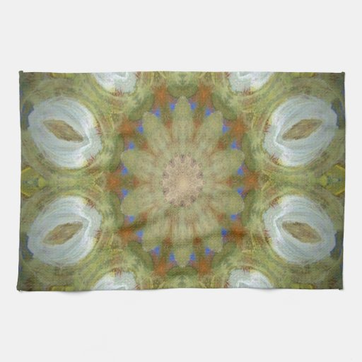 Kaleidoscope design product image-made with love hand towels