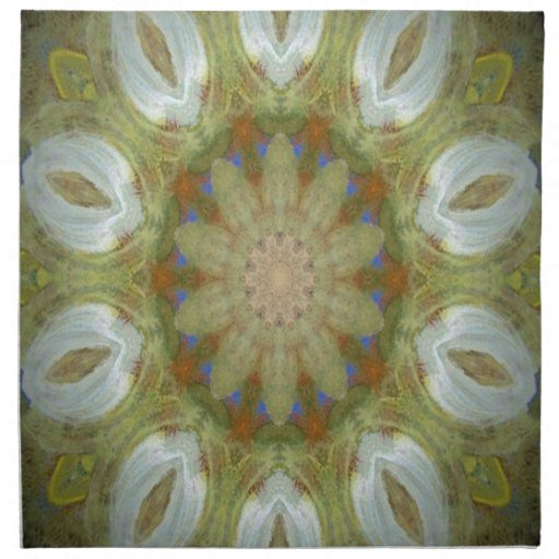 Kaleidoscope design product image-made with love printed napkin