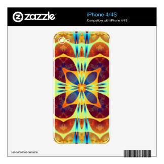 Kaleidoscope Design ST1 Decal For iPhone 4