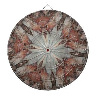 Kaleidoscope Design Star from Trunk of Palm Tree Dartboard