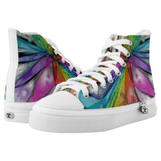 Kaleidoscope Dragonfly High-Top Sneakers