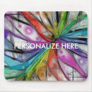 Kaleidoscope Dragonfly Mouse Pad