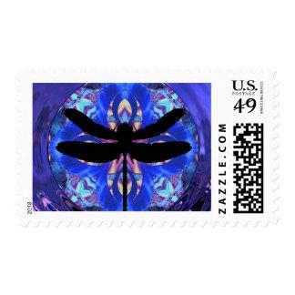 Kaleidoscope Dragonfly Postage Stamp