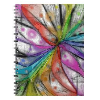 Kaleidoscope Dragonfly Spiral Notebook