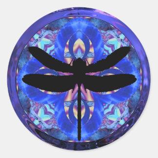 Kaleidoscope Dragonfly Sticker