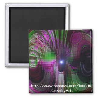 Kaleidoscope Dream 2 Inch Square Magnet