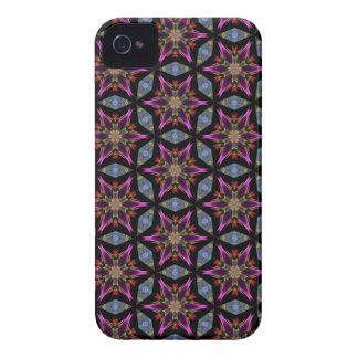 Kaleidoscope Dreams Colors of a Black Star iPhone 4 Cover