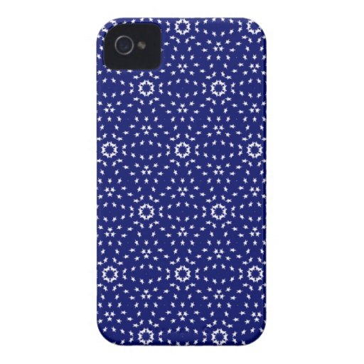 Kaleidoscope Dreams Field of Blue iPhone 4 Case-Mate Cases