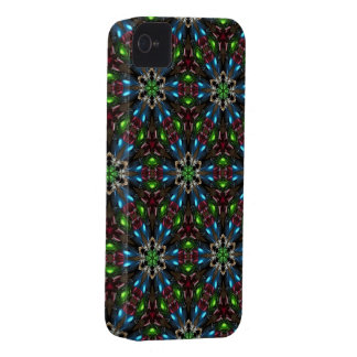 Kaleidoscope Dreams in Blue and Green iPhone Case