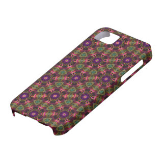 Kaleidoscope Dreams in Red, Purple, and Green iPhone 5 Cover