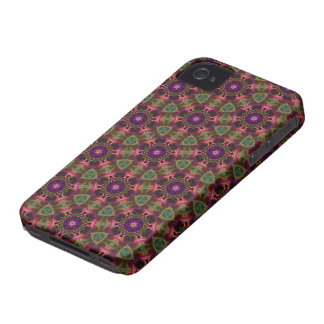 Kaleidoscope Dreams in Red, Purple, and Green iPhone 4 Cover