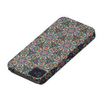 Kaleidoscope Dreams in Stained Glass Case-Mate iPhone 4 Cases